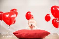 Het portret van de valentijnskaartendag Stock Afbeeldingen