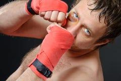 Het portret van de vechter. Royalty-vrije Stock Foto's