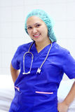Het portret van de verpleegster stock foto