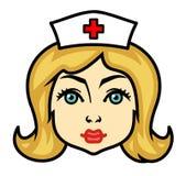 Het portret van de verpleegster (Vector) royalty-vrije illustratie