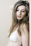 Het portret van de vrouw Stock Fotografie