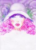 Het portret van de vrouw De achtergrond van de manier Royalty-vrije Stock Afbeelding