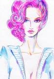 Het portret van de vrouw De achtergrond van de manier Royalty-vrije Stock Fotografie