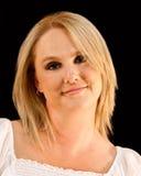 Het Portret van de Vrouw van de blonde stock afbeeldingen