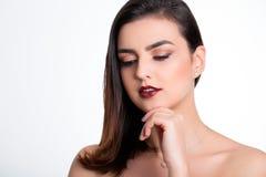 Het Portret van de Vrouw van de schoonheid Royalty-vrije Stock Afbeeldingen