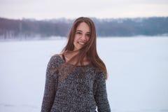 Het Portret van de Vrouw van de winter Royalty-vrije Stock Afbeelding