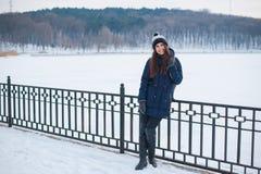 Het Portret van de Vrouw van de winter Royalty-vrije Stock Afbeeldingen