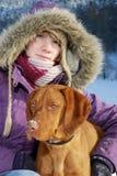 Het Portret van de winter royalty-vrije stock afbeelding