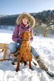 Het Portret van de winter stock foto