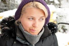 Het portret van de winter. Royalty-vrije Stock Afbeelding