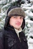 Het portret van de winter van de jonge mens Stock Fotografie