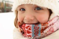 Het portret van de winter van een meisje Royalty-vrije Stock Fotografie