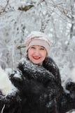 Het portret van de winter van een meisje royalty-vrije stock foto