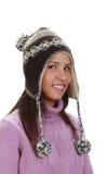 Het portret van de winter van een vrouw stock afbeeldingen