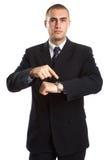 Het Portret van de zakenman stock foto's