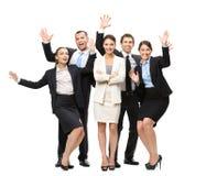 Het portret van gemiddelde lengte van groep gelukkige managers Stock Afbeelding