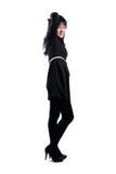Mooi Aziatisch meisje in zwarte kleding Stock Foto's