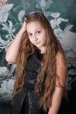 het portret van het 10 éénjarigenmeisje Royalty-vrije Stock Foto