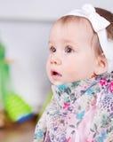Het portret van het babymeisje Stock Fotografie