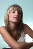 Het portret van het blonde meisje Stock Fotografie