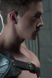 Het portret van het close-up zijaanzicht van gladiator Royalty-vrije Stock Fotografie