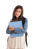 Het portret van het de schoolmeisje van Preteen Stock Foto's