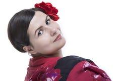 Het portret van het flamenco Stock Fotografie