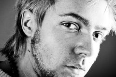 Het Portret van het Gezicht van de jonge Mens stock foto