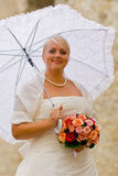 Het portret van het huwelijk Stock Foto's