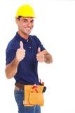 De contractant beduimelt omhoog stock foto