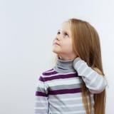 Het portret van het kindmeisje stock foto