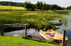 Het Portret van het landschap van Halden Noorwegen Stock Foto's
