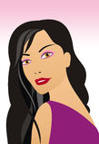 Het portret van het meisje Vector Illustratie