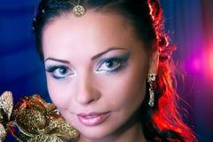 Het portret van het meisje met een soort ziet eruit Royalty-vrije Stock Afbeeldingen