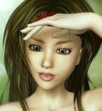 Het Portret van het Meisje van de schoonheid Royalty-vrije Stock Fotografie