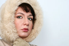 Het Portret van het Meisje van de winter royalty-vrije stock fotografie