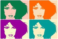 Het portret van het pop-art stock illustratie