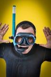 Het portret van het pop-art van een duiker royalty-vrije stock fotografie