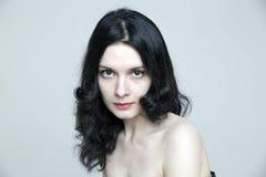 Het portret van het schoonheidsclose-up van mooie sensueel Stock Fotografie