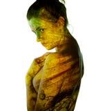 Het portret van het vreemde meisje Stock Afbeeldingen