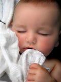 Het Portret van het Wiegeliedje van de Jongen van de baby Stock Fotografie