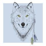 Het portret van het wolfskarakter Stock Afbeelding