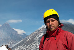 Het portret van klimmer Stock Afbeelding