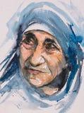 Het portret van moederteresa Stock Foto's