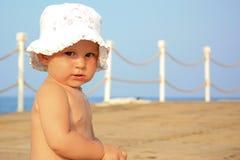 Het portret van mooie babyl in zomer Royalty-vrije Stock Afbeelding