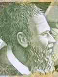 Het portret van Pjeterbogdani van Albanees geld royalty-vrije stock foto's