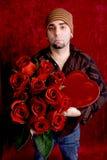 Het Portret van valentijnskaarten stock afbeelding