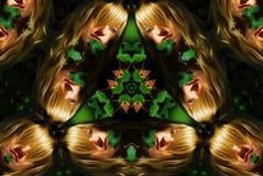 Het portretcaleidoscoop van de vrouw Stock Foto's