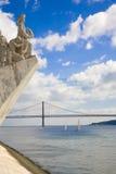 Het Portugese bevindingenmonument, Lissabon Portugal Stock Foto