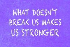 Het positieve citaat op purple schilderde concrete geweven abstracte rug Royalty-vrije Stock Fotografie